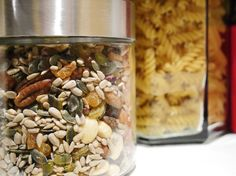 Nuts and pasta now in glass jars instead of plastic Going Natural, Natural Life, Recycling Information, Waste Reduction, Wax Wraps, Reusable Coffee Cup, Natural Cleaning Products, Glass Jars