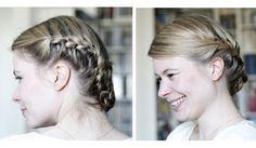 Flechtfrisuren, zweimal anders. #Hair-tutorial #bridal #brautfrisur
