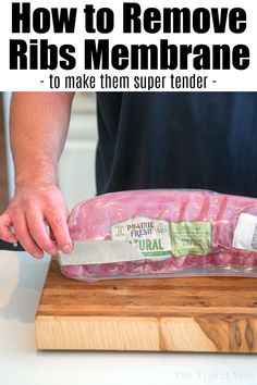 Low Carb Recipes To The Prism Weight Reduction Program Removing Membrane From Ribs Is A Must If You Want Super Tender Meat That's Fall Off The Bone Delicious Here Are Step By Step Directions On How It's Done. Barbecue Pork Ribs, Beef Ribs, Barbecue Recipes, Grilling Recipes, Cooking Recipes, Crockpot Recipes, Cooking Tips, Vegetarian Recipes, Healthy Recipes