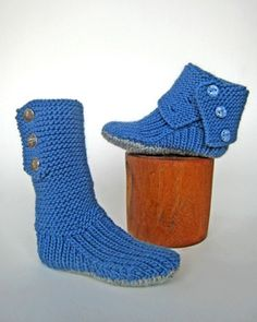 Knit boots.