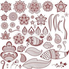 Instructions: Make your own henna tattoo including patterns / motifs - Anleitung: Henna Tattoo selber machen inkl. Muster/Motive – WOMZ Instructions: Make your own henna tattoo including patterns / motifs – WOMZ - Henna Tattoos, Henna Tattoo Hand, Flower Tattoos, Leaf Tattoos, Henna Hand Designs, Unique Mehndi Designs, Henna Tattoo Designs, Leaf Drawing, Mandala Drawing
