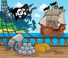 Piratenschip dek thema 4