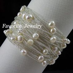 Pearl and chain Bracelets