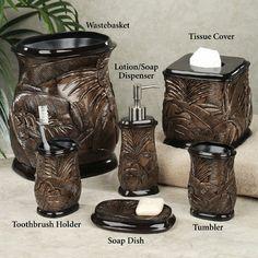 Foliage Handpainted Bath Accessories