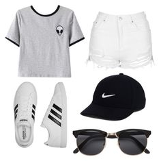 """""""Summer"""" by egloomis ❤ liked on Polyvore featuring Chicnova Fashion, Topshop, adidas and NIKE"""