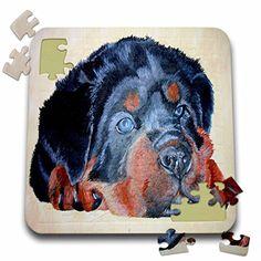 Taiche - Acrylic Painting - Rottweiler - Rottweiler Portrait - rottweiler, rottweilers, rottie, rotties, rottie owner, rottweiler puppy - 10x10 Inch Puzzle (pzl_46884_2) 3dRose http://www.amazon.com/dp/B016EC3H84/ref=cm_sw_r_pi_dp_p-fowb1EGJJ43