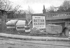 Hazard sign, 1950's