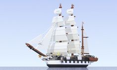 HMS Beagle, rendered by Luis Peña - A hundred and eighty years ago, Darwin visited the city of Santiago, Chile. Generations later, one of its residents has worked for months to recreate his voyage in Lego; and soon you might be able to build it too.