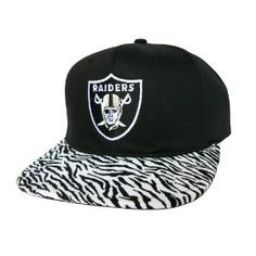 4419d64459a LOS ANGELES RAIDERS Snapback Hat - NFL Hat - Custom Snapback with Soft  Zebra Fabric   Original Black Leather - LIMITED EDITION