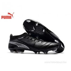 reputable site 1d55f cc0f8 PUMA ONE 17.3 FG AG 104237-03 Puma black × silver football.  Hotrunningshoeshelper · soccer spike