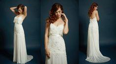 Savannah Wedding Planning and Bridal Boutique: Ivory and Beau: DESIGNER FEATURE: Rebecca Schoneveld #rebeccaschoneveld #spring2015collection #ivoryandbeau #savannah #savannahweddingdresses #weddingdresses #savannahbride #savannahbridalboutique  #nataliagown #bohoglam #beadedlace #lace #gatsbyweddingdress #greatgatsbyweddingdress #artdecoweddingdress #artdeco #glambride #slinkyweddingdress