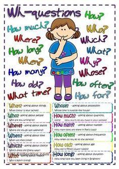 Questions - poster worksheet - Free ESL printable worksheets made by teachers: