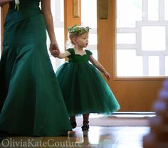Emerald Flower Girl Dress 3m5T by OliviaKateCouture on Etsy