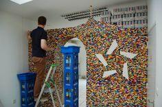 A pass-thru built out of legos!  AWESOMENESS!  http://homeklondike.com/wp-content/uploads/2012/01/6-lego-wall-by-npire.jpg