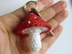 Háčkovaná muchomůrka, toadstool crochet pattern