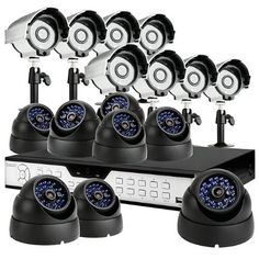 ZMODO 16CH H.264 DVR CCTV Security Surveillance System with 8 Bullet Night Vision Cameras and 8 Dome Indoor/Outdoor Security Cameras -No Hard Drive by ZMODO. $459.99. Overview This kit includes a 16CH H.264 standalone DVR and16 night vision outdoor security cameras providing everything you need to have your surveillance system up and running in your home or business quickly and easily.   DVR Features * Plug-n-Play * Record: 240 fps * Display: 240 fps * Embedded Linux OS * ...