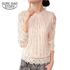 2016 New Summer Ladies White Blusas Women's Long Sleeve Chiffon Lace Crochet Tops Blouses Women Clothing Feminine Blouse 51C #SURE XIAO STORY #blouses-shirts #women_clothing #stylish_blouses-shirts #style #fashion