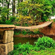Foot bridge over Yellow Creek - Burder LeFevre- Freeport Illinois, Holland Michigan, Historical Pictures, My Ride, Garden Bridge, Day Trips, Picture Ideas, Beautiful Places, Outdoor Structures
