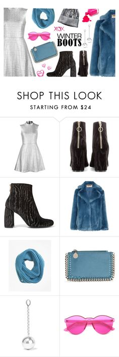 """So Cozy: Winter Boots"" by maddophelia ❤ liked on Polyvore featuring Markus Lupfer, STELLA McCARTNEY, MICHAEL Michael Kors, Brooks Brothers, Isabel Marant, ZeroUV, GALA and winterboots"