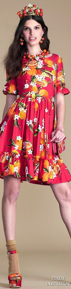 Dolce Gabbana Summer 2016 Orange County Collection Women's Fashion RTW | Purely Inspiration