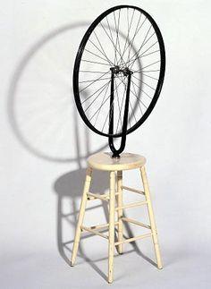 Marcel Duchamp 1913 Rueda de Bicicleta. (Arte Conceptual-Dadaísmo)