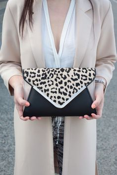 This leopard clutch from Aldo is the perfect accessory!