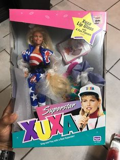 Superstar Xuxa Barbie Doll 1993 Xuxa Lip Gloss, Rose Art,  Latin American, Rare #RoseArt #Dolls
