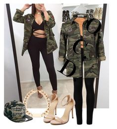 """""""Camo x Black."""" by oreocaker ❤ liked on Polyvore featuring Wolford and Zephyr"""