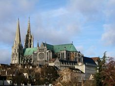 Chartres is most known for its stunning 13th century cathedral with both Gothic and Roman spires