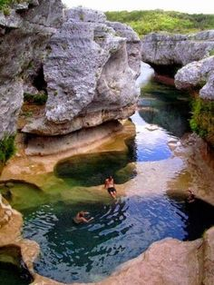 The Narrows - Hays Blanco County Line, Texas - Picz Mania This picture represents sustainability of luxuriously cool waters separated by rocks with which to relax, in the same instance get a sun tan.