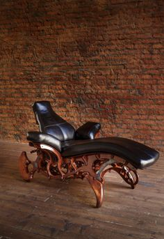 "Steampunk furniture ""Lazertis at the time"" soft chair, Art Nouveau Furniture, Studio Furniture, Cool Furniture, Modern Furniture, Furniture Design, Salvaged Furniture, Bespoke Furniture, Steampunk Furniture, Soft Chair"