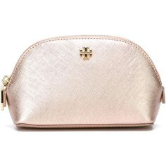 Tory Burch Zip Make-Up Bag (3,415 THB) ❤ liked on Polyvore featuring beauty products, beauty accessories, bags & cases, bags, makeup, accessories, beauty, cosmetic bag, toiletry bag and leather dop kit