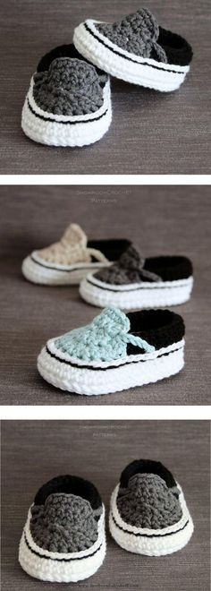 Prompt Obtain. Crochet Baby Booties Vans Style Baby Sneakers Crochet PatternVery Easy Crochet Baby Booties – Learn to Free Crochet Baby Booties Baby Knitting Patterns, Baby Patterns, Crochet Patterns, Knitting Ideas, Crochet Ideas, Crochet Gratis, Free Crochet, Knit Crochet, Crotchet