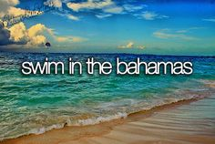 ✔  bucket list: swim in the Bahamas. CHECK! (March 15, 2011)