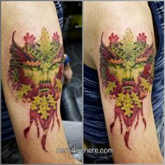 #tattoo #portrait #greenman #wing #selfie #tattooist #illustration #artwork #sketch #ink #artist #watercolor #trashpolka #tattooidea #drawing #inkmaster #tattooartist