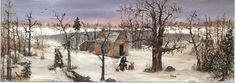 "Will Moses Handsigned & Numbered Limited Edition Print:""Walden Pond in Winter"""