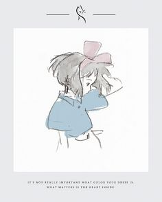 """"""" maybe i can stay and find some other nice people who will like me and accept me for who i am """" kiki's delivery service dir. Studio Ghibli Art, Studio Ghibli Movies, Studio Ghibli Quotes, Totoro, Arte Peculiar, Korean Art, Cute Drawings, Aesthetic Anime, Art Sketches"""
