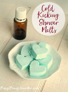 Next time you feel stuffed up, or you're getting that icky-sicky feeling, whip up a batch of these cold kicking shower melts to bring you some relief!peppermint and eucalyptus oils Essential Oil Uses, Doterra Essential Oils, Essential Oil Cold Remedy, Essential Oil Bath Bombs, Homemade Essential Oils, Clove Essential Oil, Young Living Oils, Young Living Essential Oils, Just In Case