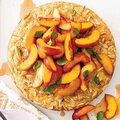 Elegant Peach And Basil Shortcake | CookingLight.com