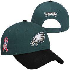 New Era Philadelphia Eagles Ladies 9FORTY On-Field BCA Adjustable Hat -  Midnight Green Black 512acc8d338