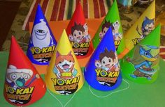 16 count Yo-Kai Watch Party Hats by AmaryleeCreations on Etsy