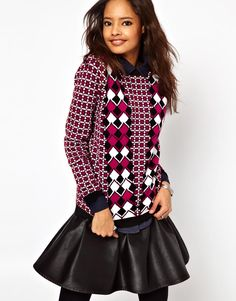ASOS Sweater In Diamond Jacquard  $70.36