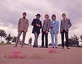 YARDBIRDS  UK group in 1966 from left: Jim McCarty, Jimmy Page, Keith Relf, Jeff Beck, Chris Dreja - Stock Photo