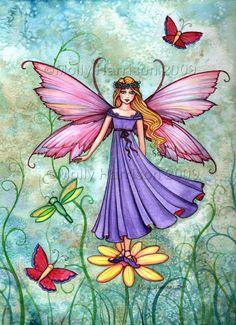 Molly Harrison Breezy Spring Fairy Art