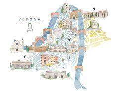 | Map of Verona, Italy