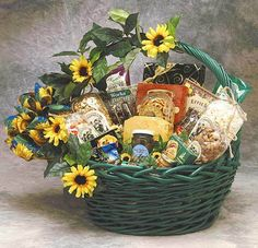 Gift Basket Villas - Sunflower Treats Gift Basket, $89.99 (http://www.giftbasketvillas.com/sunflower-treats-gift-basket/)