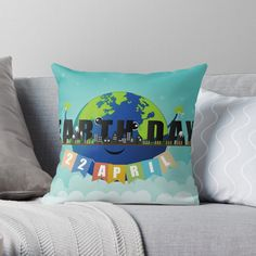 If a full redecorating project isn't in your budget, consider this inexpensive idea to give your room new life.Liven up your living room or bedroom with throw and floor pillows! Earth Day, Designer Throw Pillows, Pillow Design, Floor Pillows, Wall Tapestry, Duvet Covers, Living Room Decor, Budget, Nursery