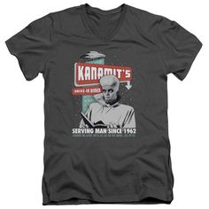 """Checkout our #LicensedGear products FREE SHIPPING + 10% OFF Coupon Code """"Official"""" Twilight Zone / Kanamits Diner-short Sleeve Adult V-neck 30 / 1 - Twilight Zone / Kanamits Diner-short Sleeve Adult V-neck 30 / 1 - Price: $34.99. Buy now at https://officiallylicensedgear.com/twilight-zone-kanamits-diner-short-sleeve-adult-v-neck-30-1"""