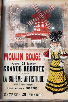 A Paris Postcard of the Moulin Rouge
