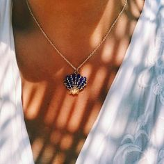 istiridye kolye( şaka mavisi) #bozcaada #mervecerit #miyuki #handmade